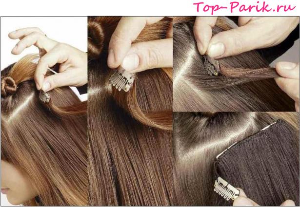 Как закрепить волосы на заколках